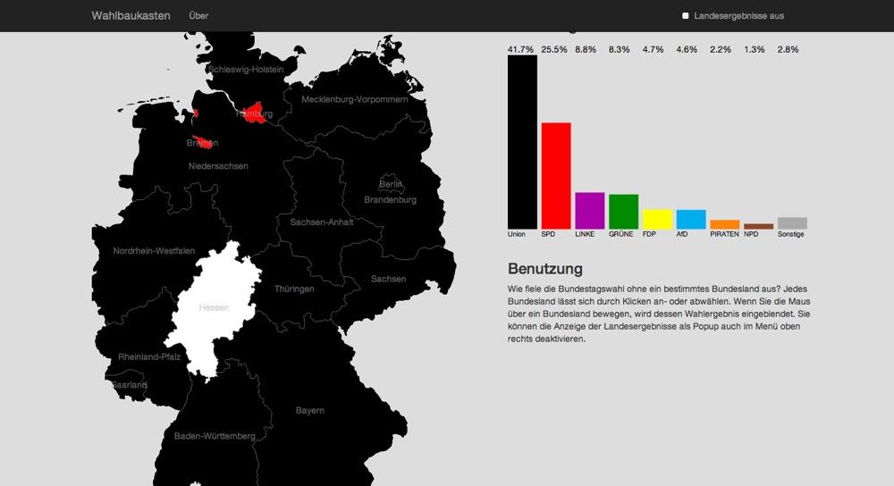 Screenshot: Wahlbaukasten
